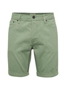 Pantaloni scurți verde camuflaj Jack & Jones Rick din bumbac