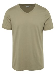 Tricou basic kaki Jack & Jones Trancer