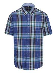 Modrá károvaná neformálna košeľa Seven Seas Milan