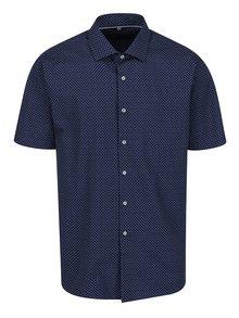 Tmavomodrá neformálna vzorovaná košeľa Seven Seas