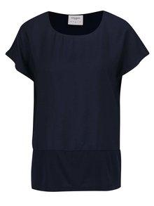 Tricou albastru închis VERO MODA Satino cu șlițuri laterale