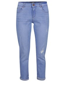 Světle modré džíny s potrhaným efektem Dorothy Perkins