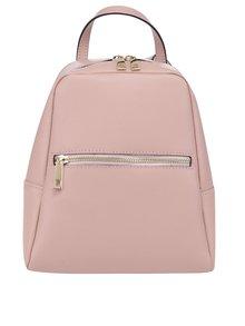 Růžový dámský kožený batoh ZOOT