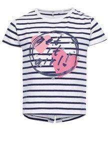 Tricou alb&albastru cu dungi pentru fete 5.10.15.