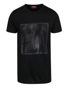 Tricou negru mcm89 cu imprimeu