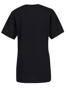 Tricou negru choker cu imprimeu Miss Selfridge