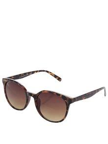 Hnedé vzorované slnečné okuliare VERO MODA Love