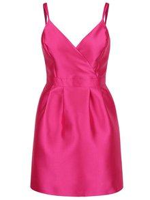 Růžové pouzdrové šaty s překládaným topem Miss Selfridge