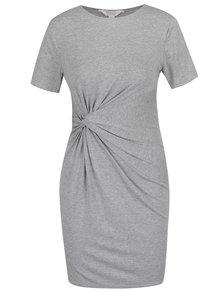 Šedé šaty s řasením na boku Miss Selfridge