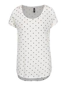 Krémové puntíkované tričko Haily's Dotty