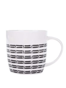 Černo-bílý porcelánový vzorovaný hrnek Kitchen Craft