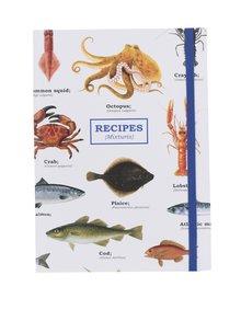 Kniha na recepty s mořskými plody Gift Republic