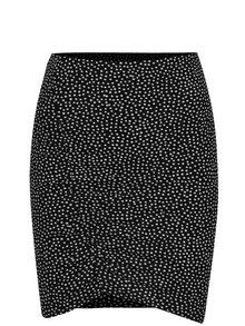 Černo-bílá puntíkovaná sukně s řasením TALLY WEiJL
