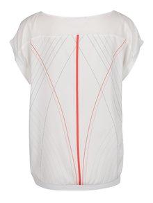 Bluza alba cu print Laura Dumitrescu Brave Swallow
