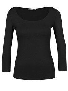 Čierne basic tričko s 3/4 rukávom ZOOT