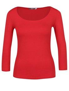 Červené basic tričko s 3/4 rukávom ZOOT
