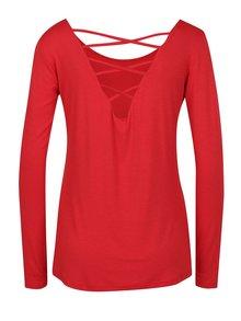 Červené tričko s pásky na zádech a dlouhým rukávem ZOOT