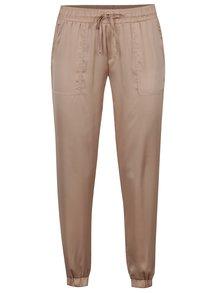 Pantaloni bej TALLY WEiJL cu aspect satinat