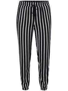 Pantaloni alb&negru TALLY WEiJL cu model în dungi