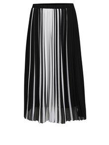 Bielo-čierna plisovaná sukňa TALLY WEiJL
