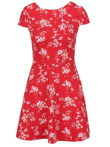 Červené květované šaty s průstřihem na zádech TALLY WEiJL