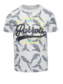 Tricou alb cu imprimeu name it Josman pentru băieți