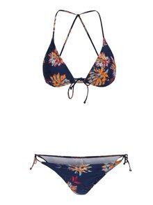 Tmavě modré dámské květované dvoudílné plavky O'Neill