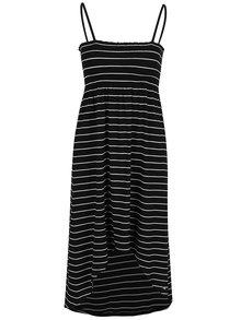 Krémovo-čierne pruhované šaty O'Neill