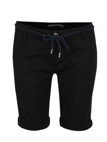 Pantaloni negri ONLY Paris cu șnur în talie