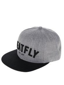 Șapcă gri melanj MEATFLY District 17 din bumbac cu broderie pentru bărbați