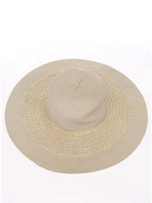 Krémový klobúk Pieces Kisa