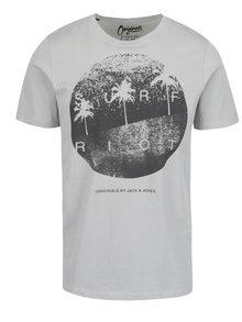 Světle šedé triko s potiskem Jack & Jones Venice