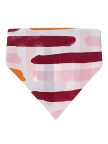 Růžový vzorovaný šátek Pieces Kini