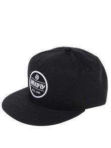 Șapcă neagră MEATFLY Troop 17 din bumbac cu logo brodat pentru bărbați
