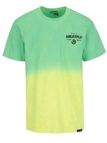 Žluto-zelené pánské triko MEATFLY Spill