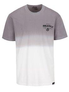 Krémovo-šedé pánské triko MEATFLY Spill