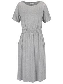 Šedé volné šaty s pružným pasem VILA Foma