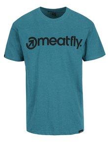 Zelené pánske tričko s potlačou Meatfly Logo
