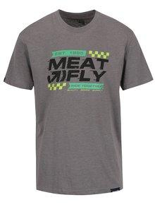 Šedé pánské triko s potiskem MEATFLY Rule