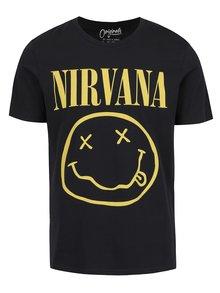 Čierne tričko s potlačou Nirvana Jack & Jones Nirvana