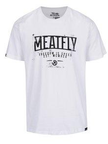 Tricou alb cu print MEATFLY Speed pentru bărbați