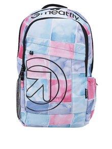 Bílo-růžový dámský vzorovaný batoh Meatfly Basejumper  20 l