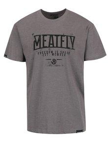 Šedé pánské triko s potiskem MEATFLY Speed