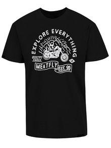 Černé pánské triko s potiskem MEATFLY Trip