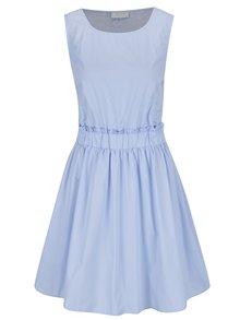 Rochie albastru deschis VILA Nika cu detalii din dantelă pe spate