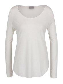 Bluză alb melanj VERO MODA Lua cu decolteu rotund