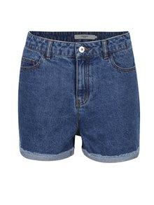 Modré džínové kraťasy s vysokým pasem VERO MODA Be Nineteen