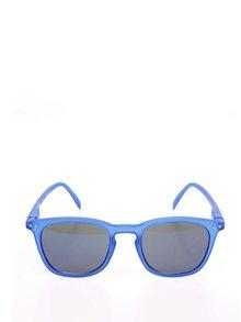 Modré unisex slnečné okuliare s čierno-modrými sklami IZIPIZI #E