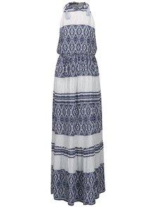 Rochie albastru&crem VERO MODA Jasmine cu talie elastică