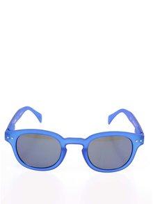 Modré unisex slnečné okuliare so zrkadlovými modrými sklami IZIPIZI #C
